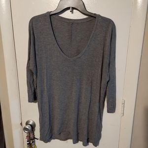 "Soft 3/4"" sleeve shirt Sz Lg"